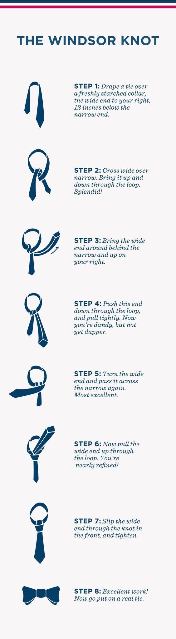 hur knyter man en windsor info