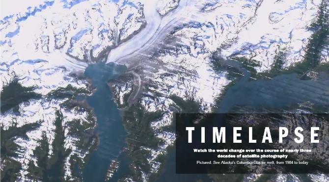 Satellitbilder i timelaps