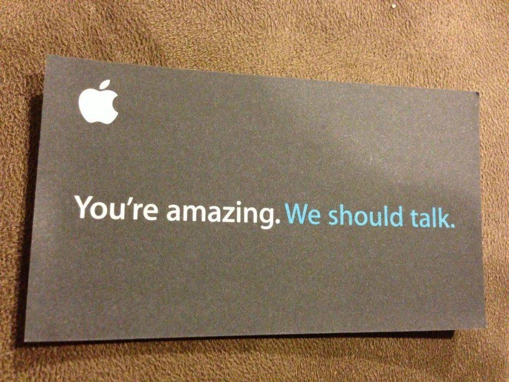 Visitkort Apple