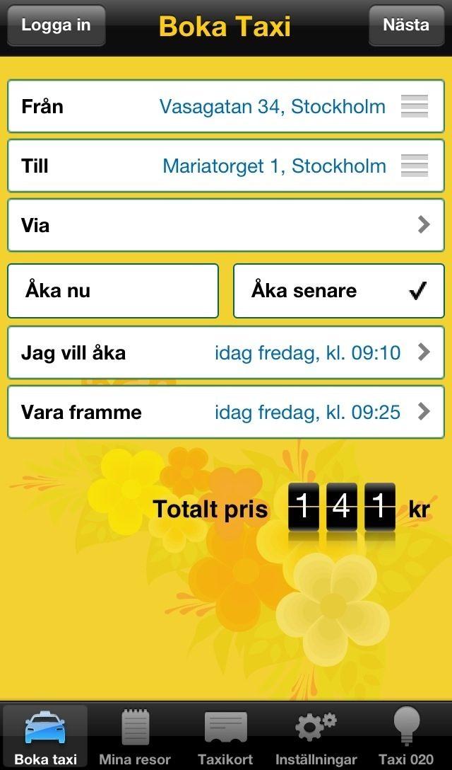 Prisexempel - Taxi 020