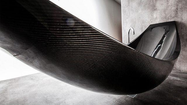 Designbadkar i kolfiber