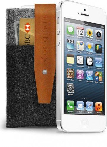 iPhone-fodral i läder och filt