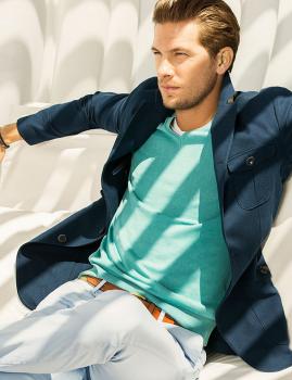 Proper sommar-outfit i Navy-blå och mintgrön