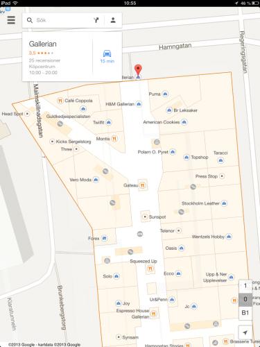 Google Maps inomhuskartor