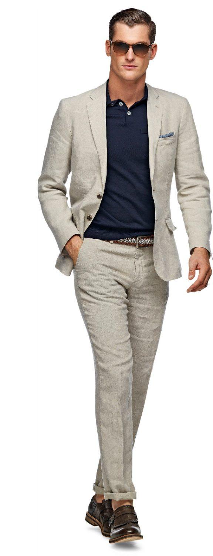 Beige kostym - Stiltips herr