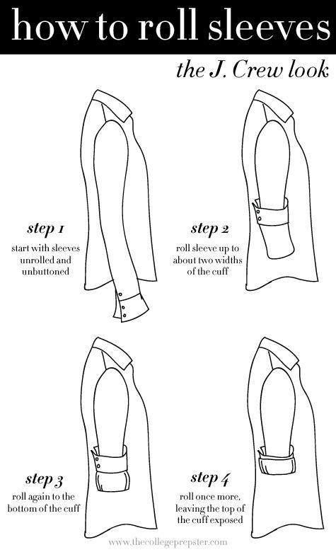 Hur rullar man upp skjortärmarna?