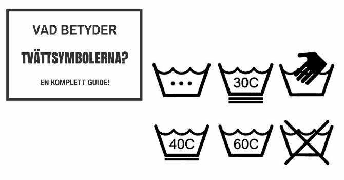 vad betyder tvättsymbolerna?