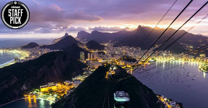 Timelaps över Rio De Janeiro