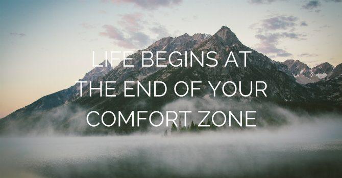 comfort zone citat