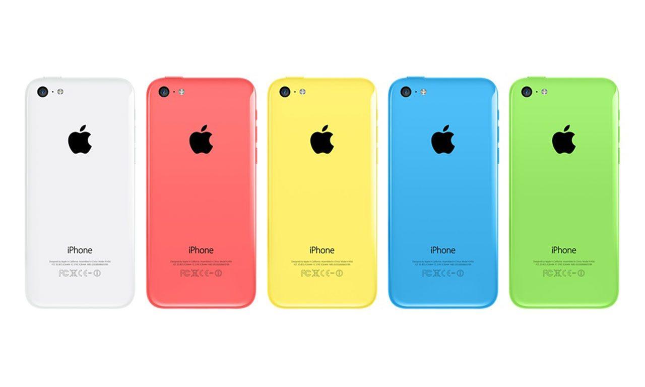 iPhone 5c kommer i 5 olika färger