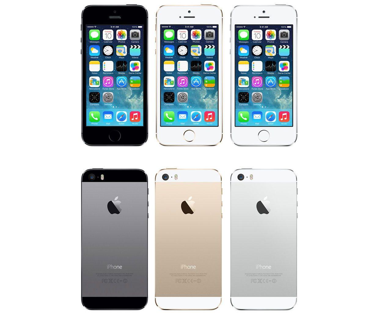 iPhone 5s kommer i tre olika färger
