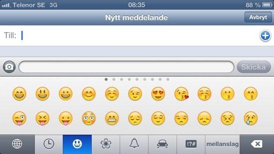 iPhone Emojicons