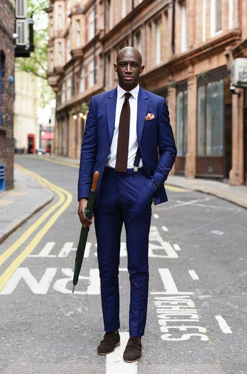 Kornblå Kostym