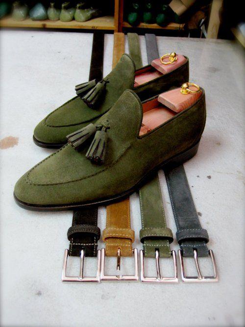 Mossgröna Loafers