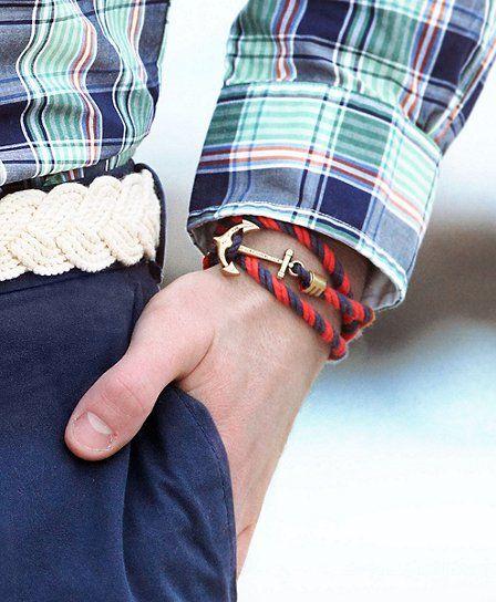 Armband för män med ankare
