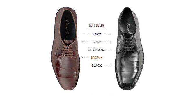 färg på skor till grå kostym