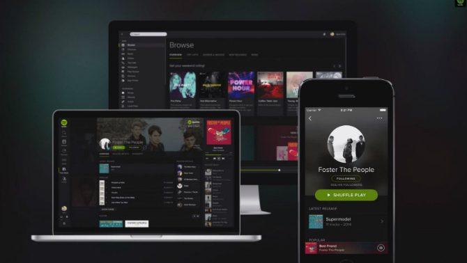 Spotify får ny design