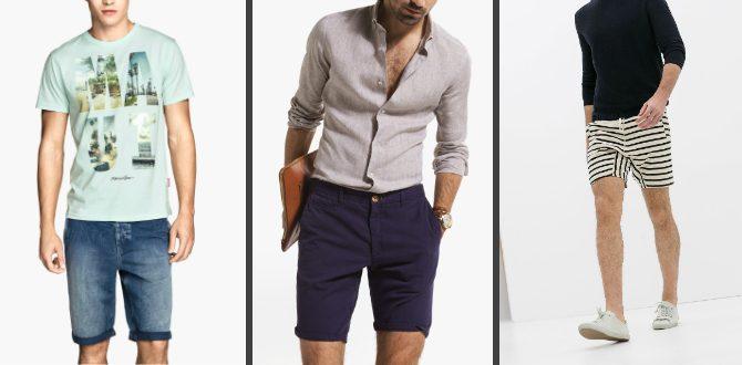 Herrshorts 2014 jeans randigt chinos