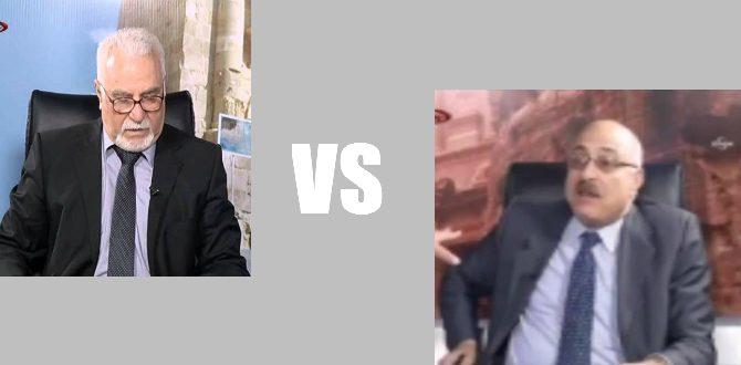 Jordanian table fight Shaker al-Jawhary vs Sharif al-Jaiousy