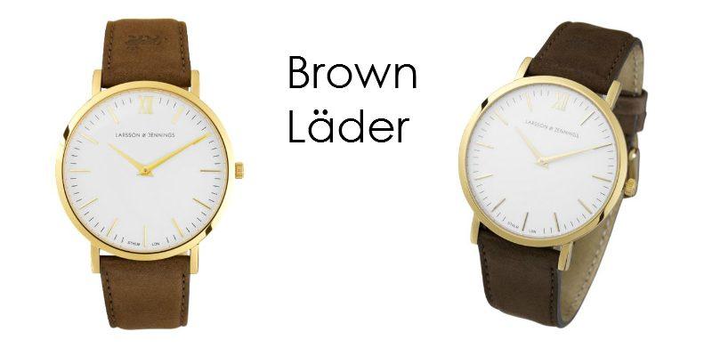 Larsson and Jennings klockor brown läder