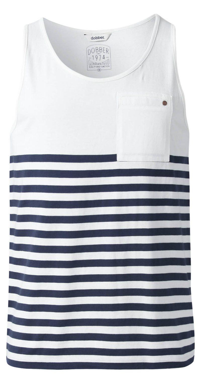 Randiga linnen blått och vitt