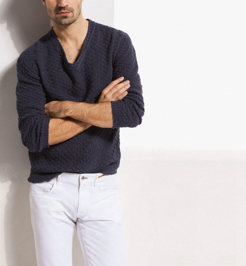 marint mode 2014 kabelstickad tröja