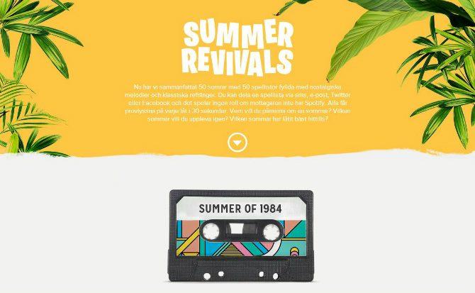 Spotify summer revivals