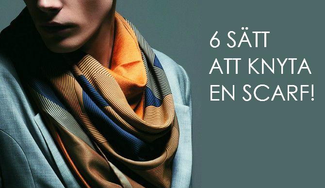 knyta en scarf snyggt
