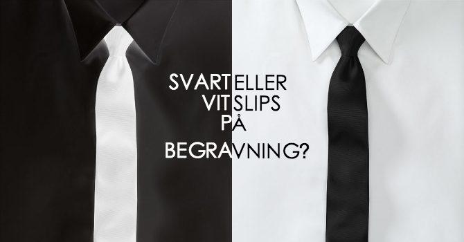 Svart eller vit slips på begravning