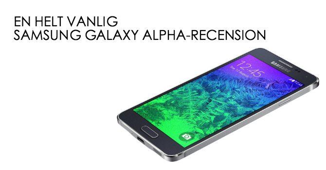 Samsung Galaxy Alpha recension