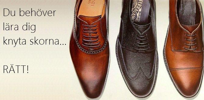 knyta skorna rätt