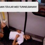 Är du snabbare än tunnelbanan? Det är i.a.f. den här snubben!