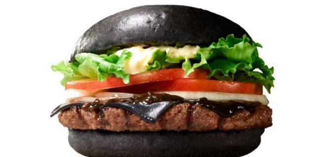 svart hamburgare burger king