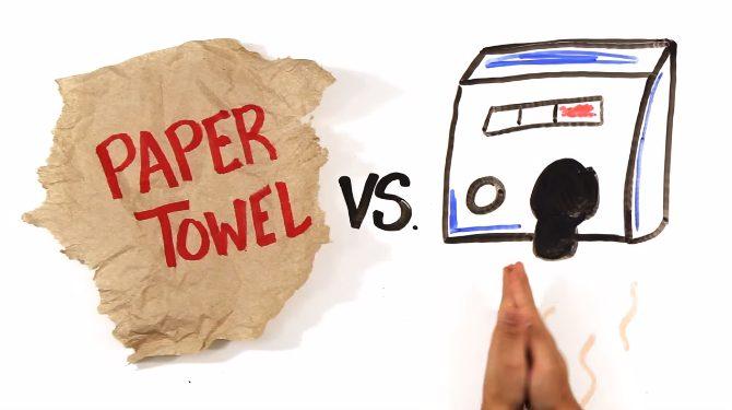 Handtork eller papper