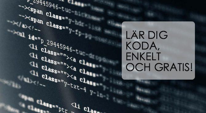 Lära sig koda gratis