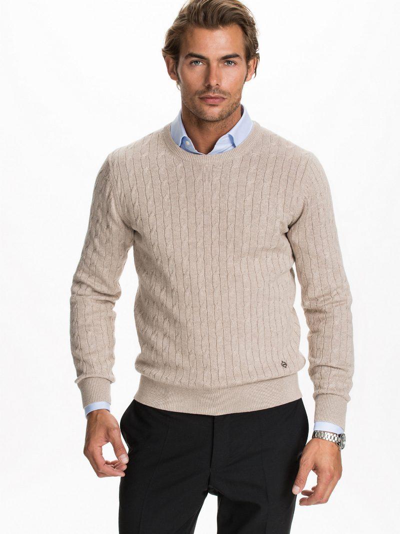 Stickade tröjor höst 2014 vit J Lindeberg