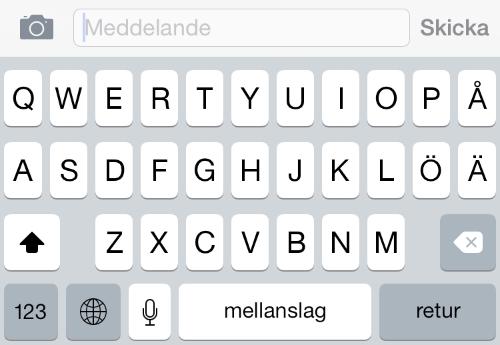 iPhone 6 tangentbord