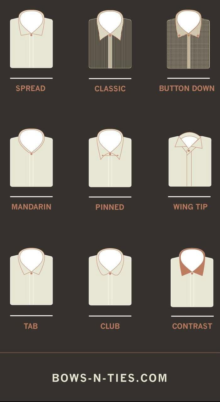olika skjortkragar