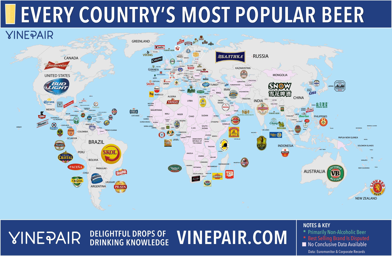 mest sålda ölen i alla länder