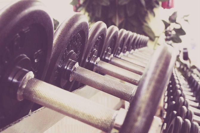Hantel komplex komplex-träning