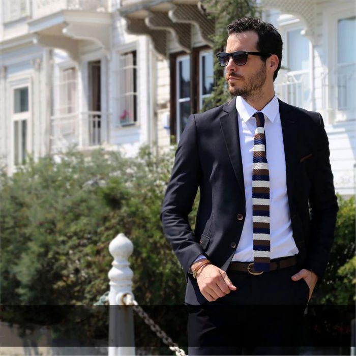 billig kostym marinblå