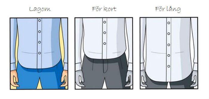 Hur lång ska skjortan vara