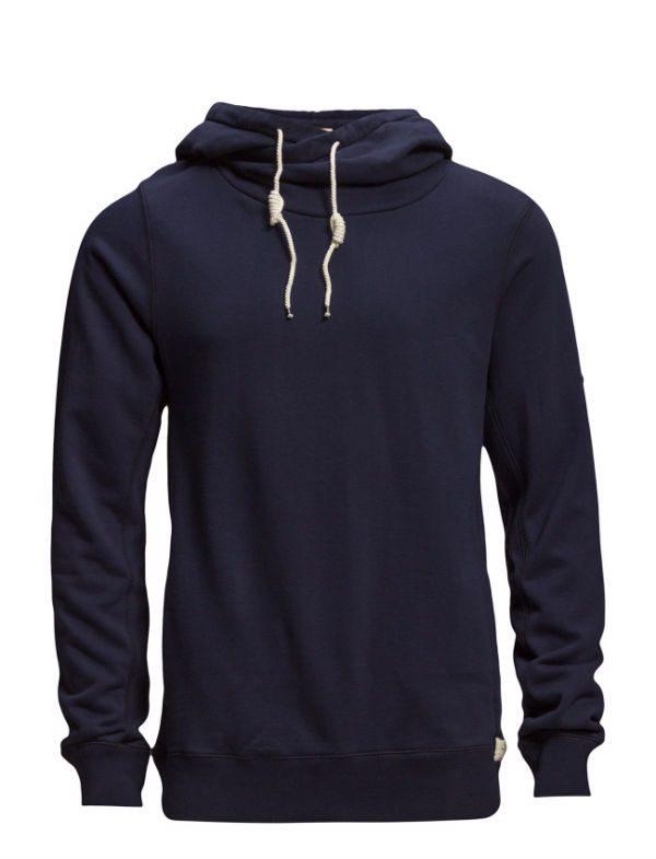 Marinblå hoodie
