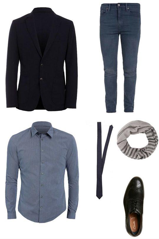 Outfit för fest skjorta och kavaj