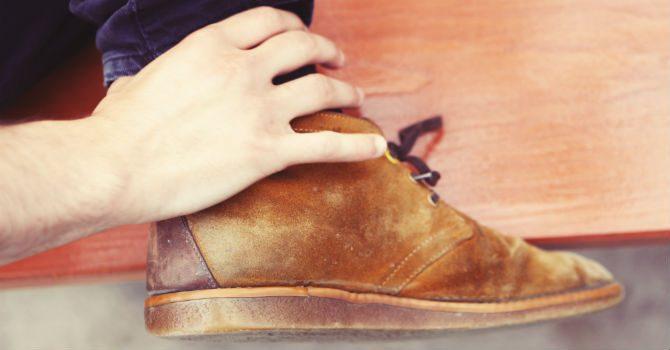 gå in nya skor
