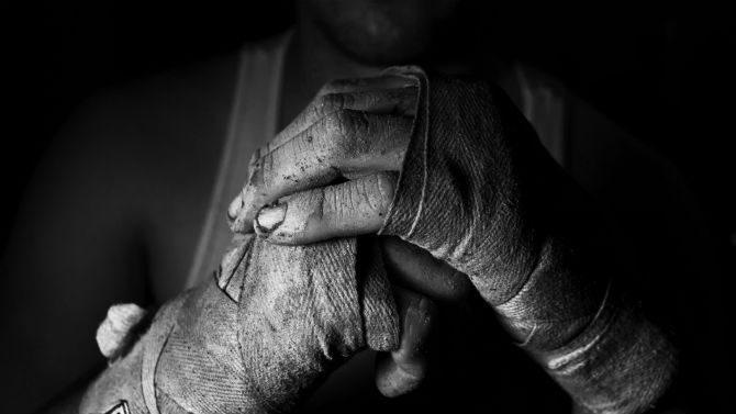 Träna Med Boxningssäck handskar