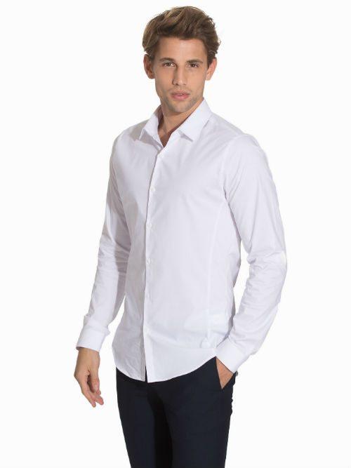 vit skjorta stretch topman