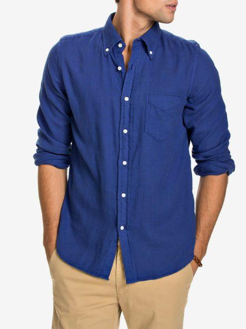 kornblå skjorta