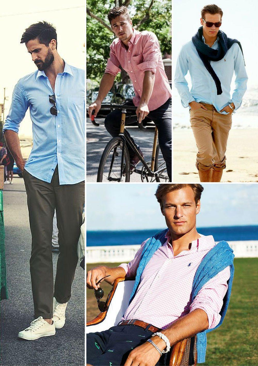 olika typer av skjortor avslappnad skjorta