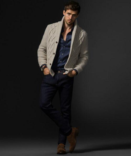 välklädd utan kostym jeans kofta